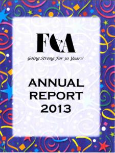 FCA Annual Report 2013