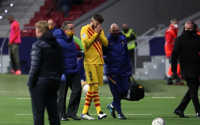 Pique injured against Atletico madrid