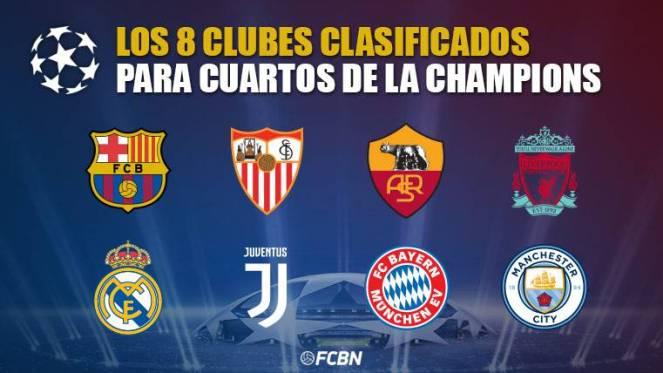 Resultat d'imatges de Champions 2018 equipos cuartos