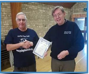 Donald Ashton presented with CTT Certificate of Honour