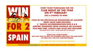 More Prizes! Club Night of the Year, 9 February