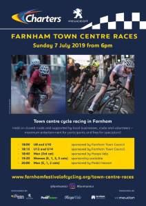 Farnham Town Centre Races – Sunday 7 July 6pm