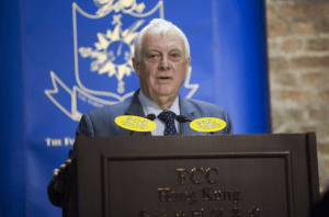 Chris Patten spoke about Hong Kong and its political issues at the FCC.