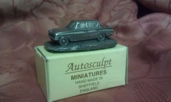 Miniature pewter car model