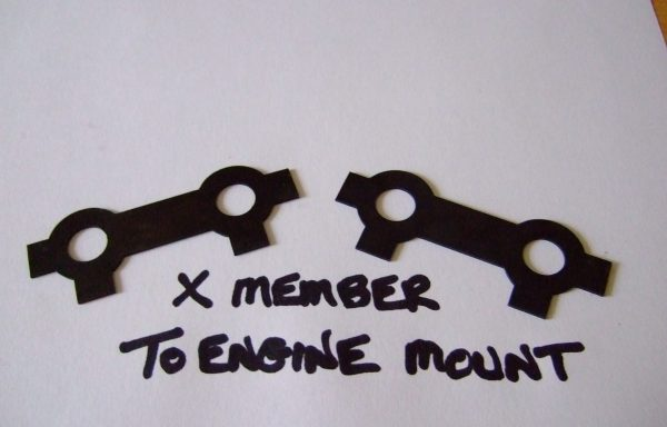 Cross-member to engine mount tab washer