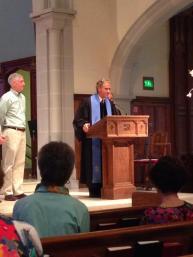 Richard preaching