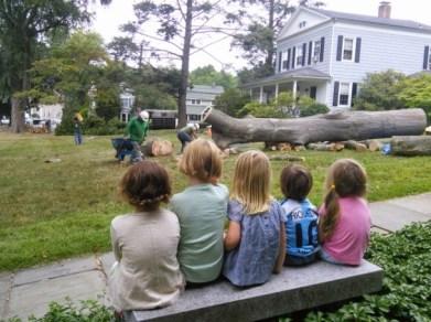 First Church Preschool Watching Tree Being Taken Down