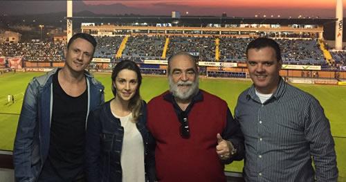 Christian Kessler, Aline Archer, Delfim Peixoto Filho e Junior Moresco.