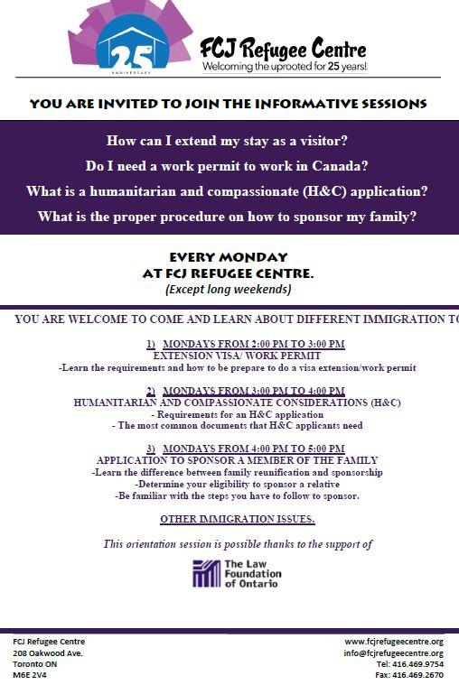 Workshops for precarious migrants