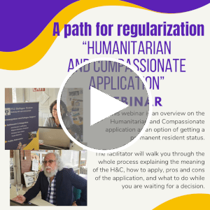 Webinar   A path for regularization: Humanitarian and Compassionate Application