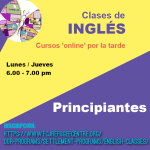 Nuevas clases de inglés por las tardes