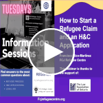 Webinar | How to Start a Refugee Claim and an H&C Application