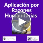 Webinar | Aplicación por razones humanitarias