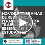 Webinar | Os novos programas de Residência Permanente para trabalhadores essenciais e estudantes