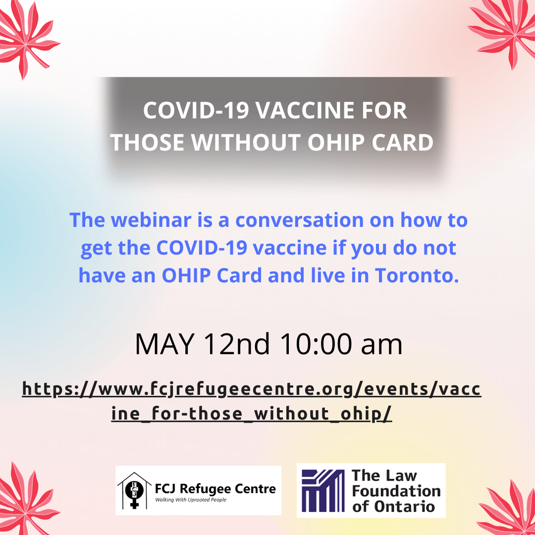 COVID-19 Vaccine For Those Without OHIP Cards