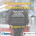 Toronto For All: Undocumented Residents Day