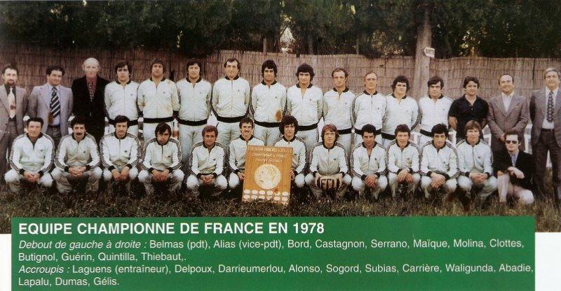 1978 Le FC.Lézignan Champion de France de rugby à XIII - rugby lézignan corbières