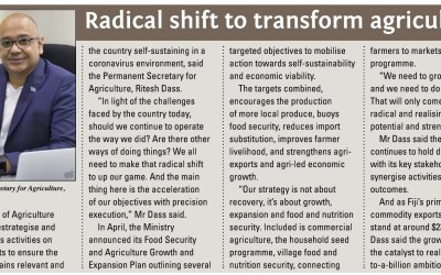Radical shift to transform Agriculture