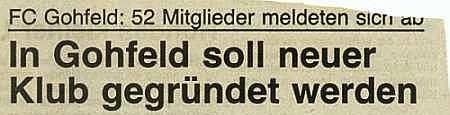Neuer Klub in Gohfeld