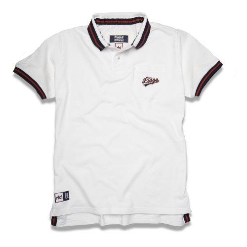Polo Liège blanc avec poche