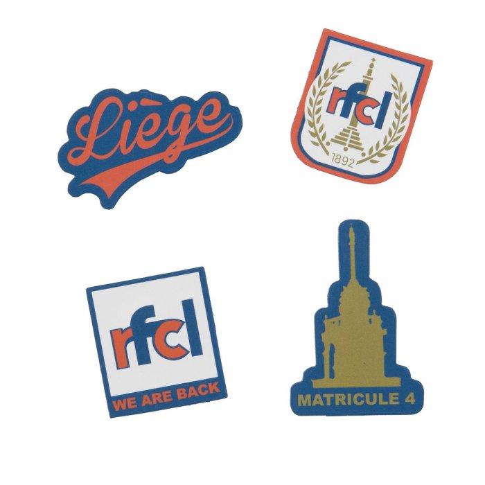 Set de 4 magnets souples RFC Liège