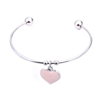 Fancy Bangle Braceket - Heart
