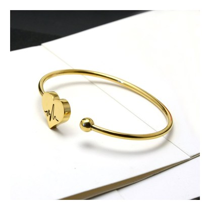 Fancy Bangle Heart Bracelet