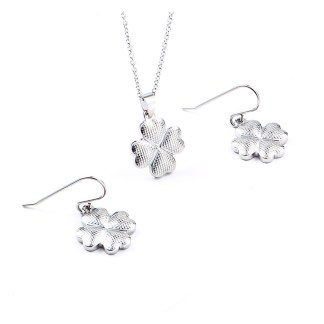 Four Leaf Clover Jewerly Set - Plated