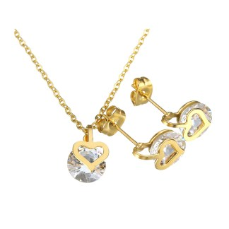 Jewelry Cubic Zirconia Heart Set