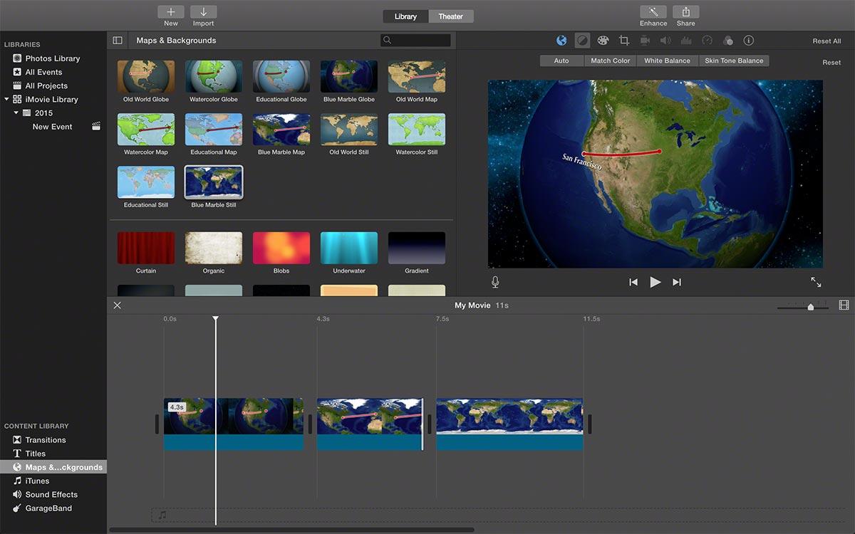 FCPX imovie maps 3