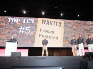 Top Ten Freeze Features
