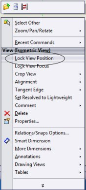 Lock View Position - Shortcut menu