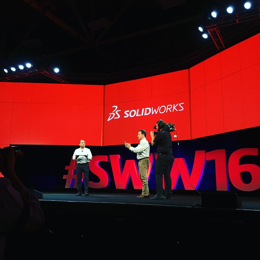 Blast from the Past at SOLIDWORKS World 2016 (video snippets from Instagram)