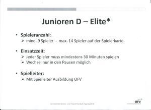 FC Regeln Junioren D Elite ab Frühling 2016 Teil 2