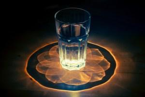 Shining glass