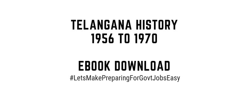 Telangana History 1956 to 1970 eBook Download