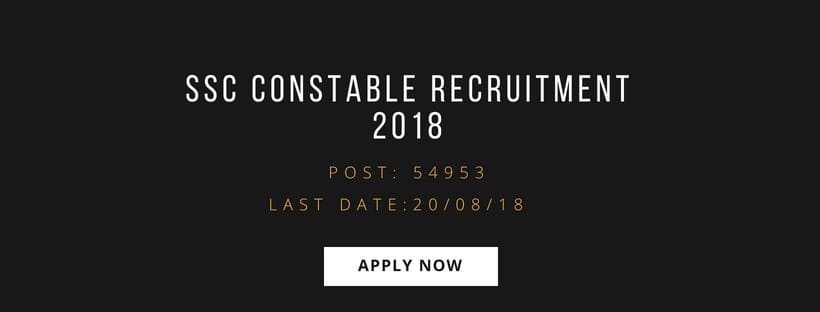 Staff Selection Commission Recruitment 2018