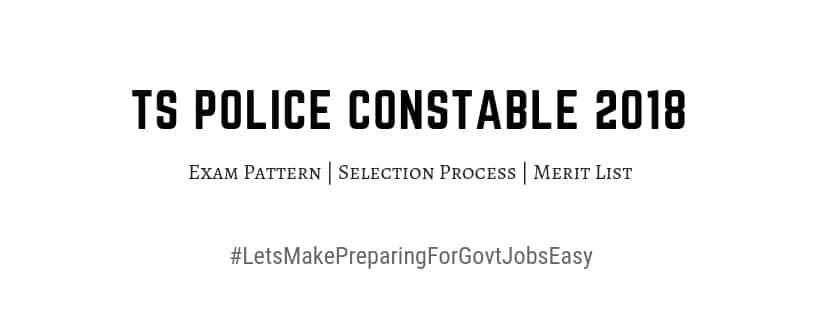 TS Constable Prelims cutoff 2018