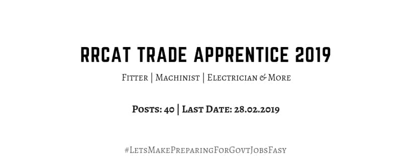 rrcat trade apprentice 2019