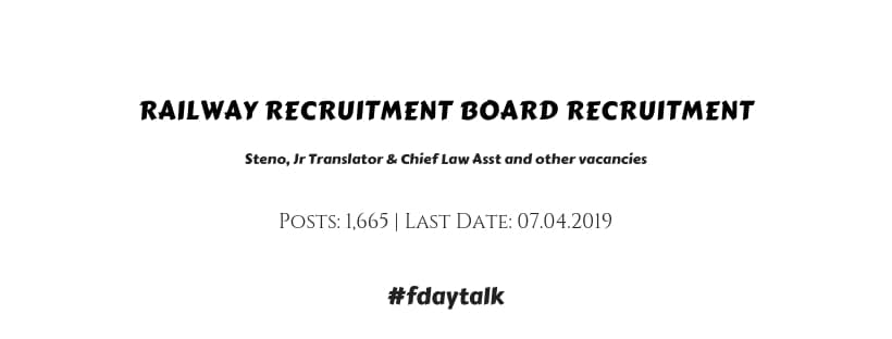 RRB Ministerial Isolated Recruitment 2019
