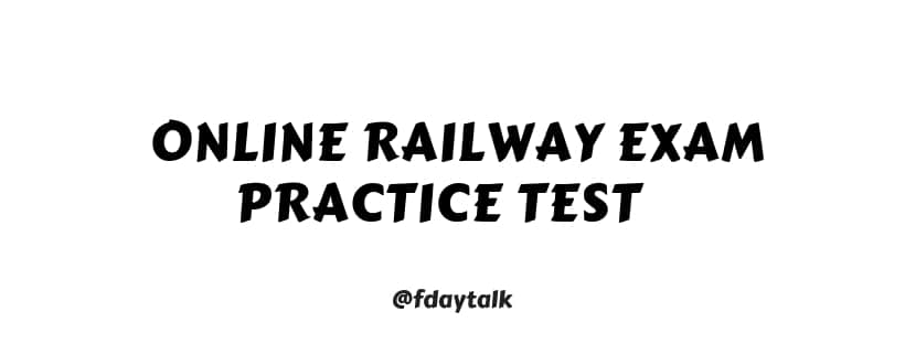 online railway exam practice test in english