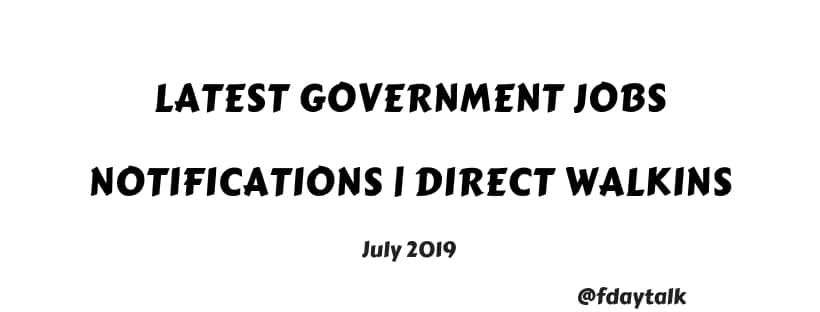 latest government jobs notifications today