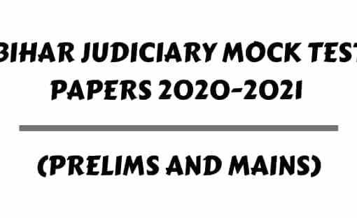 Bihar Judiciary Mock Test Papers 2020-2021