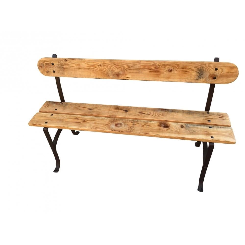 banc d exterieur en bois et fer multicolore 140 cm