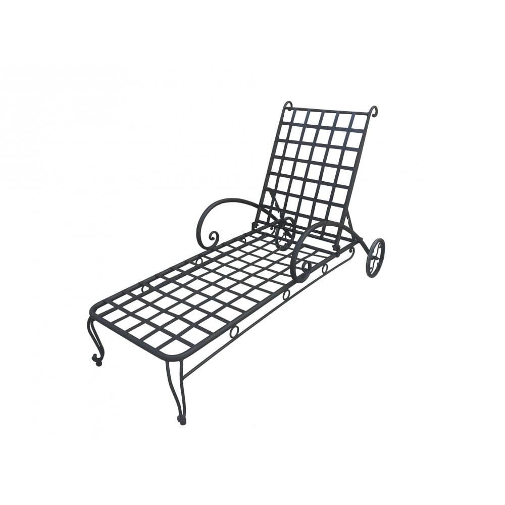 bain de soleil chaise longe en fer forge mobilier de jardin de haute qualite peinture anti rouille