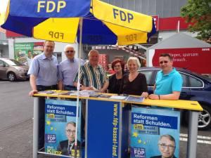 in Nachlese zur Europa-Wahl 2014: Wahlkampf vor Ort.