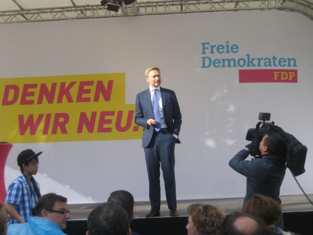 in Höhepunkt des liberalen Wahlkampfes in der Region: Christian Lindner besuchte Kassel.