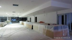 Empfangsbereich in der Eingangshalle.
