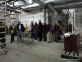 Besuchertross im unterirdischen Technikbereich.