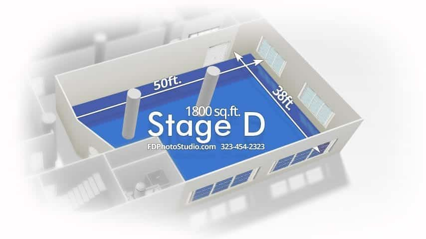 FD Photo Studio Stage D with Sunset Light